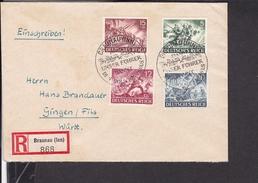 Einschreibbrief Deutsches Reich Sonderstempel Braunau Nach Gingen 1943