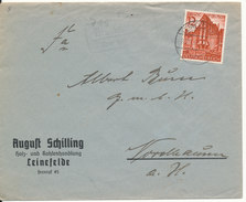 Germany Reich Cover Leinefelde 28-11-1932 Single Franked - Germany