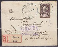 Yugoslavia Kingdom SHS Slovenia Croatia 1920 Military Censorship, Registered Letter Petre - Arad - Lettres & Documents