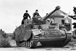 Militaria WW2  - Char Panzer IV De La 21° SS Panzerdivision - 1939-45