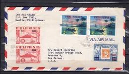 Nice Franking 1960 Manila > Trenton USA - Filippijnen
