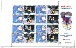 202 SLOVAKIA Dominika CIBULKOVA Women's  Tennis Winner WTA Singapoure 2016 Stamp With A Personalized Coupon - Blocks & Kleinbögen