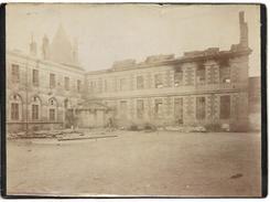 P241 Photo Ancienne D'un Batiment Incendié Vers 1900 - Photographs