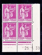 France Paix YT 371 CD 25/01/39 N**