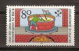 Deutschland 1983, Nr. 1179, 450 Jahre Deutsches Reinheitsgebot Für Bier Postfrisch (mnh), Bundesrepublik