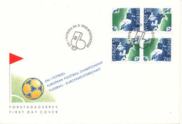 Sweden FDC 26-3-1992 European Football Championship Complete With Cachet