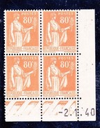 France Paix YT 366 CD 02/01/40 N**