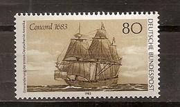 Deutschland 1983, Nr. 1180, 300. J Der Einwanderung Der Ersten Deutschen In Amerika Postfrisch (mnh), Bundesrepublik
