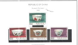 Taiwan 1993 Museo Porcellane Scott.2903/06 See Scan - 1945-... Repubblica Di Cina