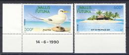 WF 1990 Serie N. 398-399 Uccelli E Isola MNH Cat. € 23.40 - Wallis E Futuna