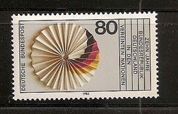 Deutschland 1983, Nr. 1185, 10 Jahre Mitglied Der Vereinten Nationen (UNO) Postfrisch (mnh), Bundesrepublik