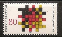 Deutschland 1983, Nr. 1194, Grundgedanken Der Demokratie Bund, Länder Und Gemeinden Postfrisch (mnh), Bundesrepublik