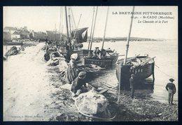Cpa Du 56    St Cado La Chaussée Et Le Port   NCL57 - Otros Municipios
