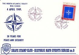 Portugal FDC 4-4-1979 Nato - Otan 30th Anniversary Special Cover With Cachet