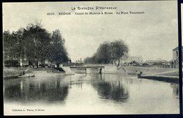 Cpa Du 35  Redon  - Canal De Nantes à Brest - Le Pont Tournant     NCL57 - Redon
