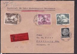 WertBrief Deutsches Reich Stempel München 1943