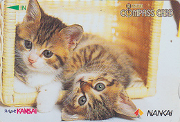 Carte Prépayée Japon - ANIMAL - CHAT Chats - CAT Cats Japan Prepaid Nankai Card 2000 - KATZE Karte - 3879 - Gatos