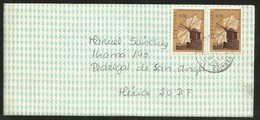 J) 1972 PORTUGAL, MOUNTAIN WINDMILL, BUSSACO HILLS, AIRMAIL CIRCULATED COVER, MULTIPLE STAMPS, FROM PORTUGAL TO MEXICO