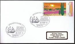 Germany Bremerhaven 1997 / Ships / Sailing Ship / 150 Years Of Ship Post USA - Germany