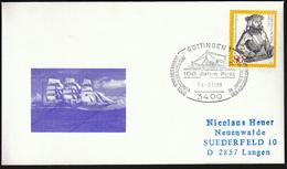 Germany Gottingen 1988 / Ships / Steam Ship / 100 Years Of Post