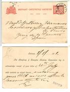 Netherlands Nederland Indie Batavia 1911 Private Stationery Jerez Dela Frontera
