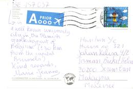 20G: Belgium Angel  Stamp On Leuven Postcard - Belgio