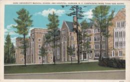 Duke University Medical School And Hospital Durham North Carolina Curteich - Schools