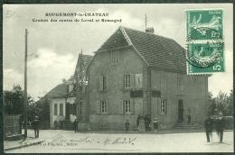 90 - Territoire-de-Belfort - Rougemont-le-Château, Route De Leval Et Romagny, Plaque émaillée Chocolat Menier - Rougemont-le-Château