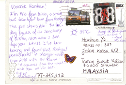 20G : Portugal Bus,rock Music Guitar Stamp On Fatima, Altar Do Mundo, Papal Pope Postcard - 1910-... Republik