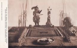 Albuquerque New Mexico, Indian Collection Building, Hopi Snake Fraternity Display, Native Ceremony, C1910s Postcard - Albuquerque