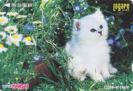 Carte Prépayée Japon - ANIMAL - CHAT & Fleur - CAT Japan Prepaid Lagare Card 3000 - KATZE Karte - 3885 - Katten