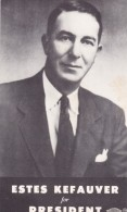 Estes Kefauver For President, Tennessee Politician Congressman Senator Stevenson's VP Candidate, C1950s Vintage Postcard - People
