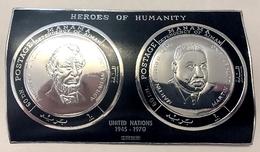 Bloc ARGENT Neuf ** MNH Non Dentelé ( SILVER Stamp ) - Manama - Lincoln Luther King - Surchargé - Famous People