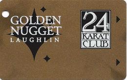 Golden Nugget Casino Laughlin, NV - BLANK Slot Card - Innovative On Bottom Right Corner Of Back - Casino Cards