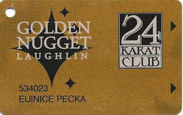 Golden Nugget Casino Laughlin, NV - Slot Card - No Manufacturer Mark - Color 2 - Casino Cards