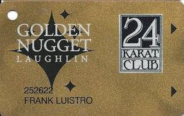 Golden Nugget Casino Laughlin, NV - Slot Card - No Manufacturer Mark - Color 4 - Casino Cards