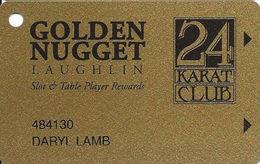 Golden Nugget Casino Laughlin, NV - Slot Card - No Manufacturer Mark - Color 3 - Casino Cards