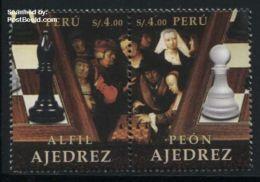 Peru 2016 Chess 2v [:], (Mint NH), Chess - Paintings - Sport - Art