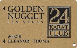 Golden Nugget Casino Las Vegas - Slot Card - PPC Over Mag Stripe - With Signature Stripe - Casino Cards