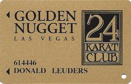 Golden Nugget Casino Las Vegas - Slot Card - PPC Over Mag Stripe - No Signature Stripe - Casino Cards