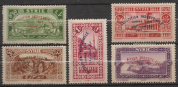 M257.-. S YRIA - 1929.-.SC#: 200-204 - MH - INDUSTRIAL EXHIBITION DAMASCUS-NO COMPLETE SET.SCV:US$7.50