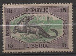 M518.-. LIBERIA - 1921 - SC#: 186 - MH. CROCODILE / COCODRILO.-. SCV:US$ 6.00