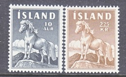 ICELAND  311-12  **  ICELANDIC  PONY - 1944-... Republic
