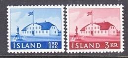 ICELAND  333-4  **  PARLAMENT  HOUSE - 1944-... Republic
