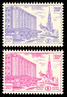 200 U. 300 Fr. Brüsseler Zentralbahnhof, Tadellos Postfrisch, Katalog: 319/20 **200 And 300 Fr. Brussels...