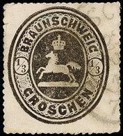1/3 Gr. Schwarz, Allseits Vollständiger Durchstich, K2 Von Braunschweig, Links Oben Winzige Eckbugspur Und...