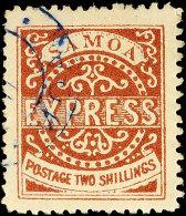 2 Sh. Rotbraun, Tadellos, Gestempelt, Katalog: 6IIb O2 Sh. Red-brown, In Perfect Condition, Used, Catalogue:...