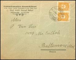 """1908, Zweisprachiger Stempel """"QUART ISRALELITE (JERUSALEM) 10.3."""" Klar Auf Vordruckbrief """"Central-Committee..."""