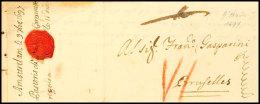 1697, Amsterdam, Altbrief Nach Brüssel Mit Inhalt  1697, Amsterdam, Stampless Cover To Brüssel With...