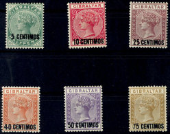 5 Bis 75 Centimos, 6 Werte (ohne 25 Auf 2½ P.), Ungebraucht, Mi. 270,-, Katalog: 15/17,19/21 *5 Till 75...
